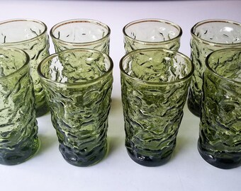 Set of 8 Milano-Green Juice Glasses by Anchor Hocking