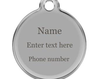 Custom Engraved Pet ID Tag