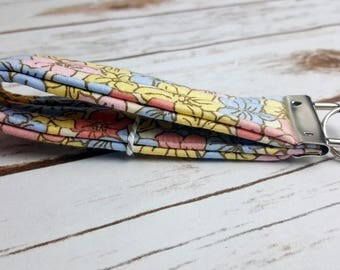 Spring Floral Quilted Key Fob/Key Chain