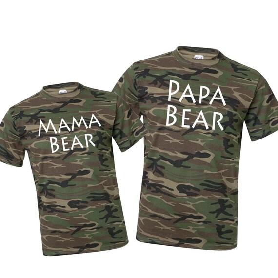 Mama Bear Papa Bear Shirts. Mama Bear Shirt. Papa Bear Shirt. Mama Bear. Papa Bear. New Mom Gift. New Dad Gift. Camo Shirt. Gift for Mom