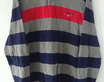 Rare Vintage POLO SPORT Long Sleeve Polo Tshirt Size XL