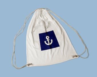 Cotton sports bag anchor