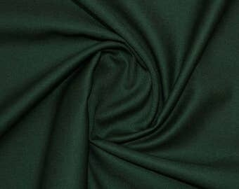 100% Pure Wool Green Fabric By Yard Only~Forest Green Colour Pure wool Fabric~Suiting Jackets pants Skirts~Wedding Gift Pure Wool@sohoskirts