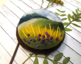 Womens jewelry gift Unusual gift ideas for her Boho chic charm brooch Needle felted brooch for scarf Nature gift for friend  Jewerly gifts