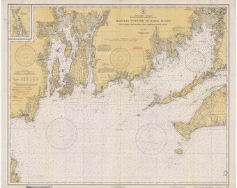 Martha's Vineyard to Block Island Map 1934