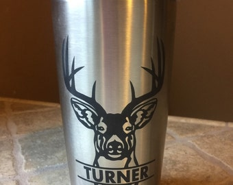 Ozark Trail Laser Engraved Stainless Steel Tumbler 20oz by Ozark Trail, Personalized