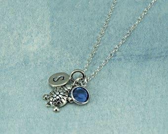 Sterling Silver Tortoise Necklace, Pet Turtle Necklace, Silver Tortoise Jewelry, Tiny Tortoise Charm Bracelet, Pet Tortoise, Personalized