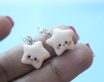 Pale Pink Star Earrings