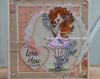 Shabby Chic Mother's Day Card, Handmade Mother's Day Card, Paper Card
