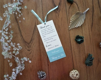 Wedding Welcome Tags