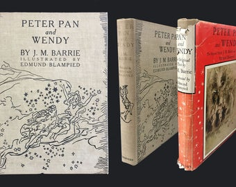 The Blampied Edition of Peter Pan, D/J, J. M. Barrie, Illustrated, 1st Ed., 1940