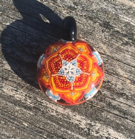 Glass Mandala Pendant