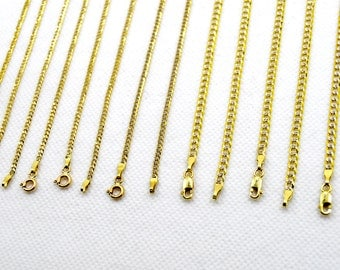 "10k Solid Yellow Gold 2mm 3mm Cuban Link Diamond(D) Cut Chain Necklace Size 16-30"" Real"