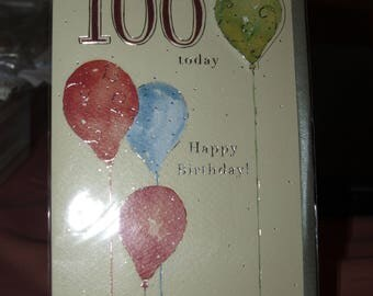 Congrations you're 100 today Birthday Card