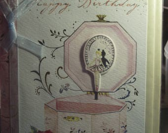 A Jewellery Box with a Ballet Dancer Birthday Card