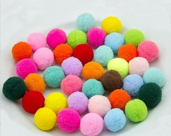 30mm Pom poms ball Colorful Polyester Ball Felt pom poms Garland Bunting Banner garland DIY-100pcs