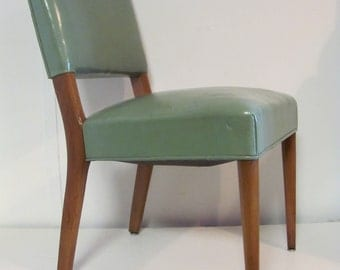 Fine Mid Century Modern Leather Chair by Stow and Davis of Grand Rapids