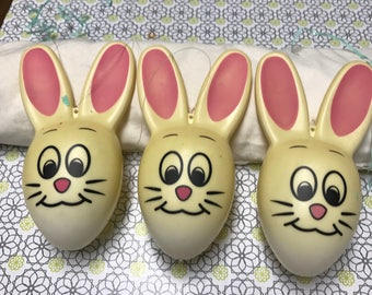 Easter Bunny Ornaments, Set of 3