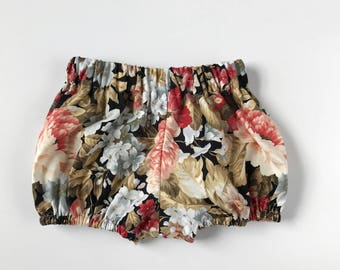 floral baby bloomers // baby girl shorts // baby bloomers // baby shorts // baby bloomer shorts // shorties // summer clothes