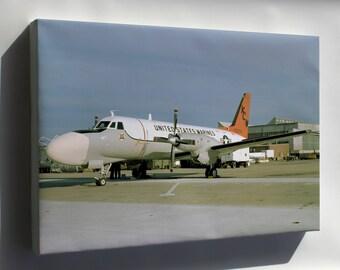 Canvas 24x36; Grumman Tc-4C Academe Vmat(Aw)-202 Double Eagles 1978
