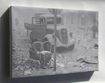 Canvas 24x36; Helsinki Bombardment 1939 Sa Kuvat 1490