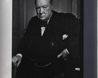 Canvas 24x36; Sir Winston Churchill P1