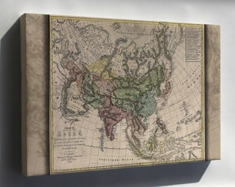 Canvas 24x36; Charte Von Asia Map 1805 China India Russia Japan