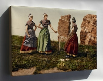 Canvas 24x36; Womens Traditional Clothing In Helgoland, Germany Bight 1890