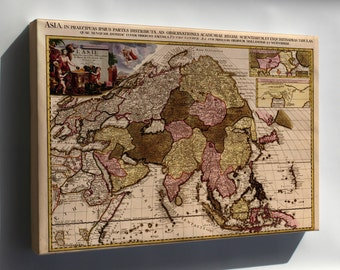 Canvas 16x24; Map Of Asia 1680 In French