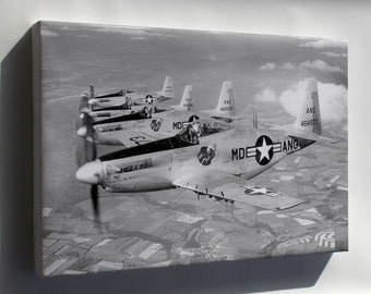 Canvas 16x24; F-51H Mustang P-52 Maryland Ang Guardian Angels 1952