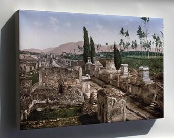 Canvas 16x24; Pompeii - Street Of The Tombs Ca. 1900
