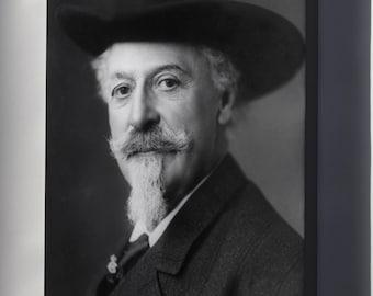 Canvas 16x24; William F. Cody (Buffalo Bill).  C.1911