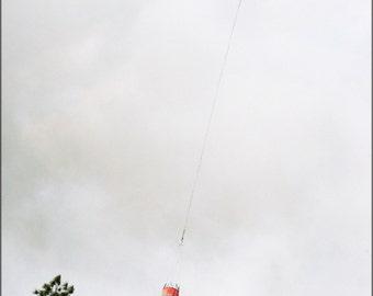 16x24 Poster; Kaman K1200 K-Max Drops Water On Wildfire, Florida
