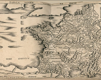 16x24 Poster; Map Of France 1513