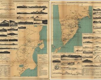 16x24 Poster; Map Of Volcanoes Kamchatka Russia 1926 In Russian