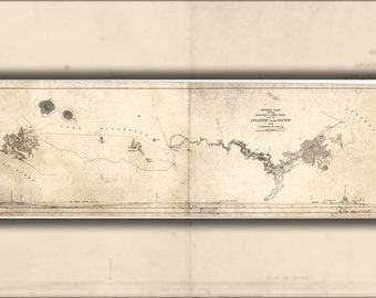 16x24 Poster; Map Of Nicaragua Canal 1890