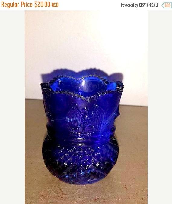 Cobalt slag toothpick holdereagle and star by junkyardblonde - Toothpick holder for purse ...