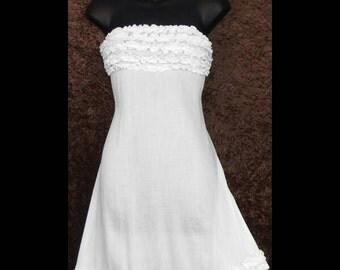 Sun dress / white dress/ cover-up/ resort wear /skirt/Hippy/festival/swim wear/ resort wear/dress