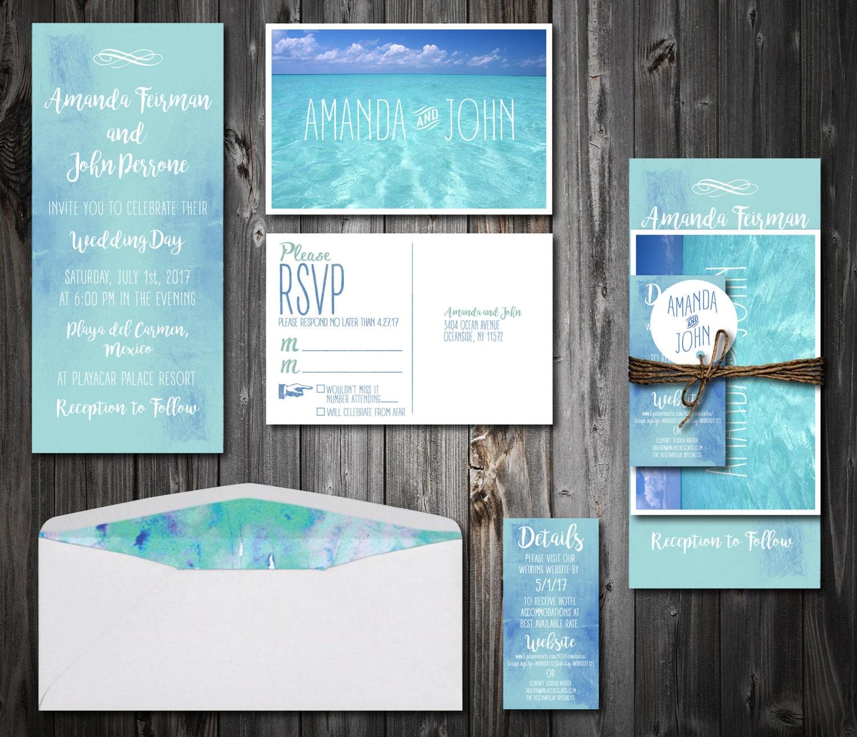 Destination Wedding Invitation Suite 100 By HeartsandTwine