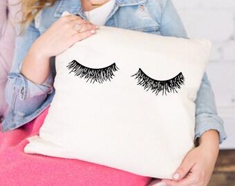 Eyelashes Pillow Cover, Throw Pillows, Decorative Pillow For Couch, Couch Pillow, Accent Pillow, Decorative Throw, Home Decor Lashes Eyelash