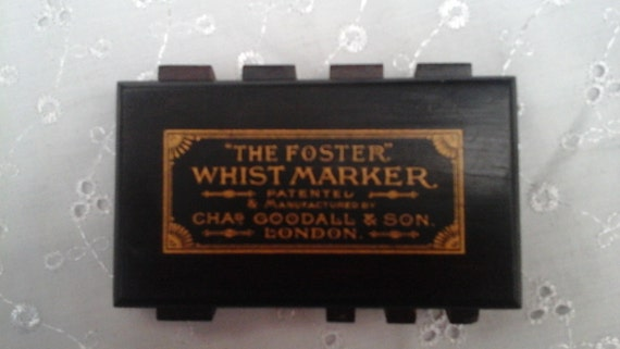 WHIST MARKER by Chas Goodall & Son, London, Vintage, Treen, The Foster, Card Games - Wooden