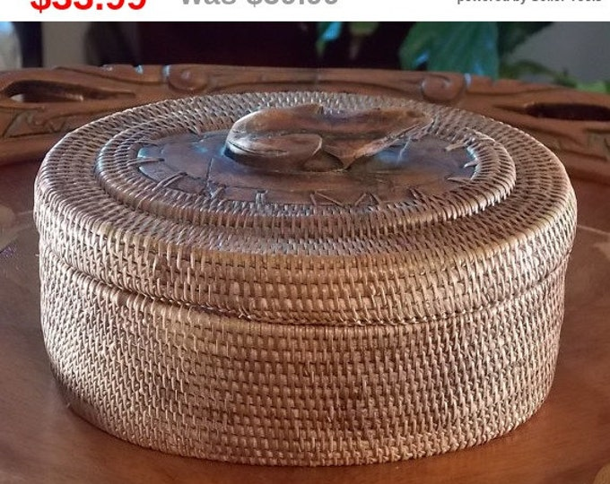 Hand-Made Basket with Frog