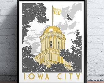 Iowa City Capitol Screen Printed Poster