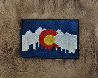 Colorado Flag Cityscape Patch