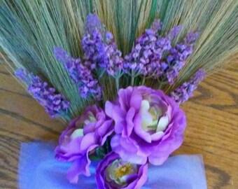 Lavender Wedding Broom, Jumping Broom, African American wedding broom