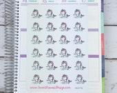 Kawaii Unicorn Stickers - Nap