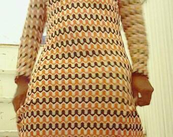 70s maxi knit dress