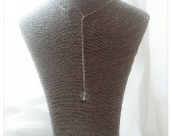 Lasso in Swarovski Crystal Teardrop necklace