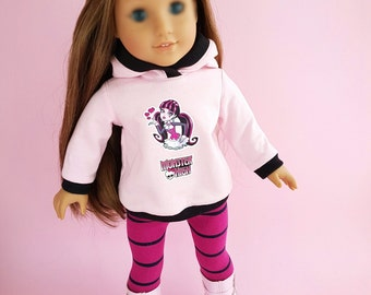 18 inch  Doll Clothes. Clothes - Fits American Girl Doll.   Hoodies and leggings.