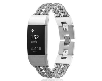 Fitbit Charge 2 Jewelry - Bracelet Avila - silver, black, gold rose gold